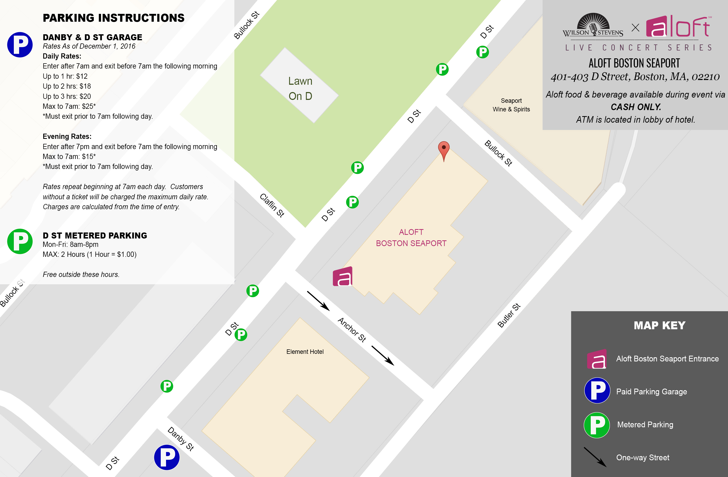 WSxAloft Showcase Parking Map