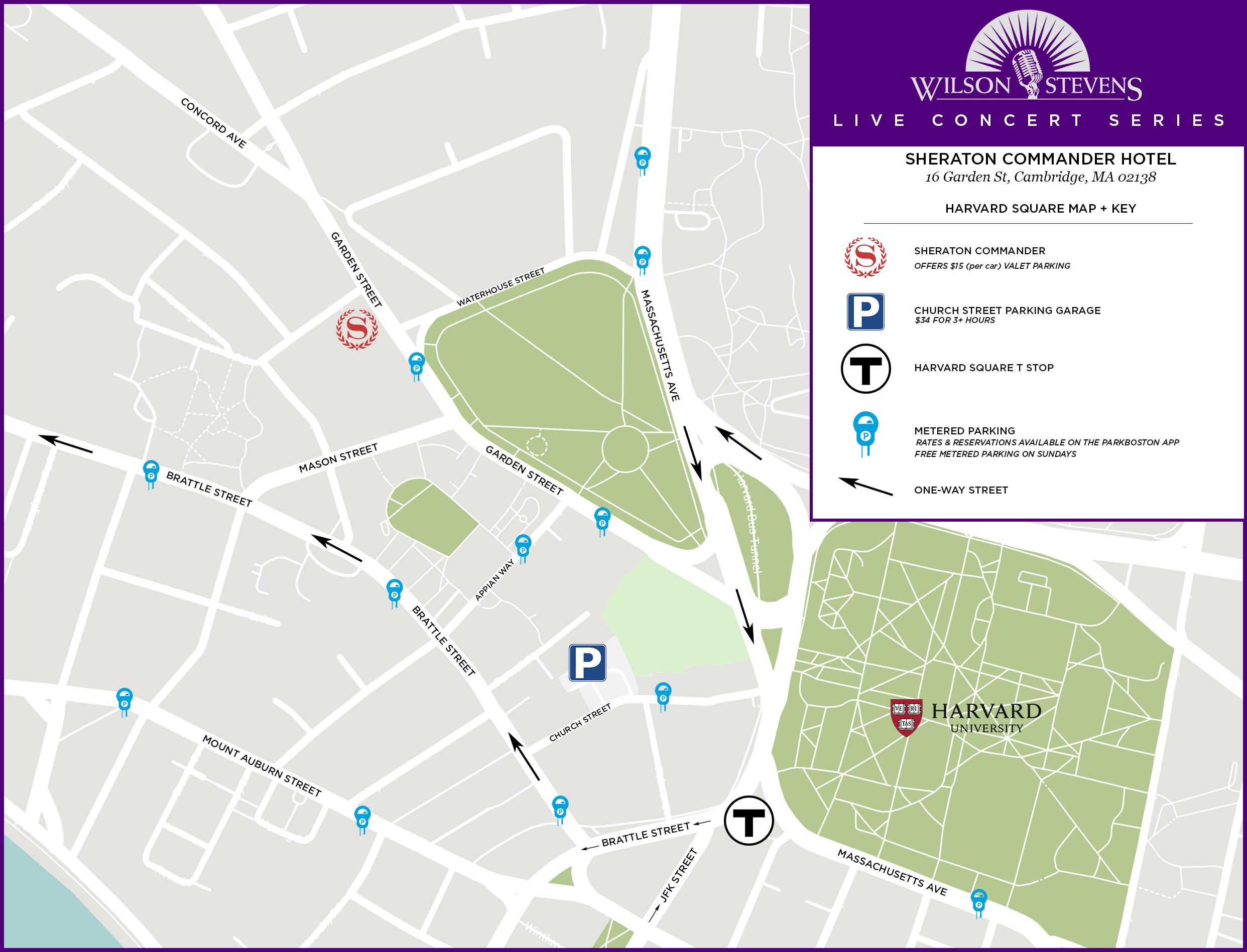 WS/Sheraton Commander Parking Map