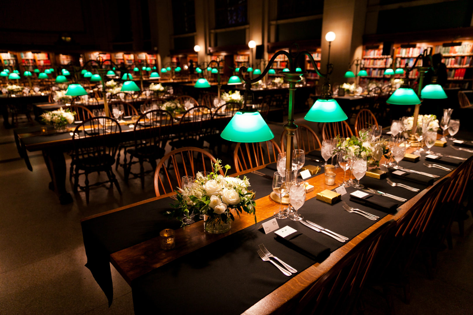 Boston Public Library Wedding.The Boston Public Library Event Lighting