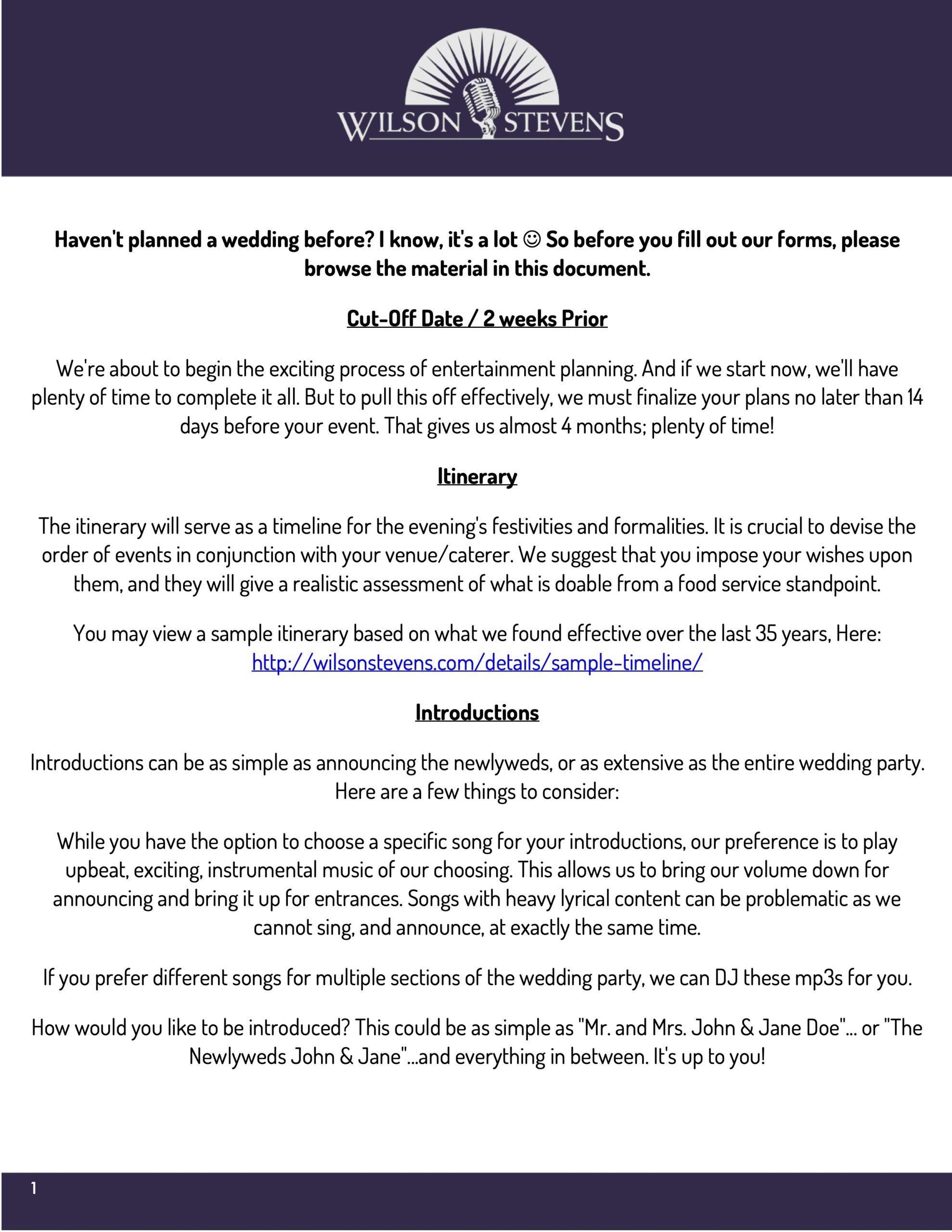 Event Preparation FAQ
